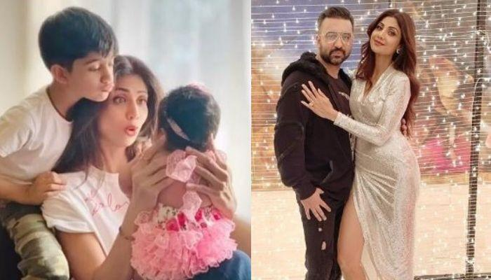 Shilpa Shetty Cuts Her Birthday Cake Baked By 'Bestest Hubby' Raj, Holding Newborn Daughter Samisha