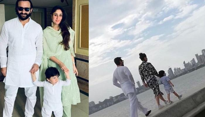Taimur Ali Khan Gazing Sunset At Marine Drive With His Parents Saif And Kareena Is A Sight To Behold