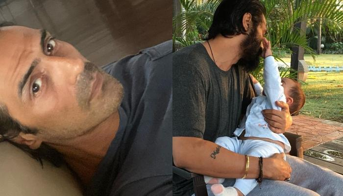 Arjun Rampal Slams A User Who Trolled Him For Holding A Knife With His Son, Arik In His Arms