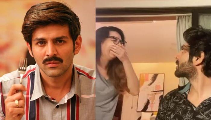Kartik Aaryan's Family Trolls Him As He Tries Gulabo Sitabo's Tongue Twister Challenge [Watch Video]