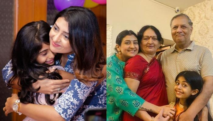 Juhi Parmar Throws A Surprise Party On Her Parents' Wedding Anniversary With Daughter, Samairra