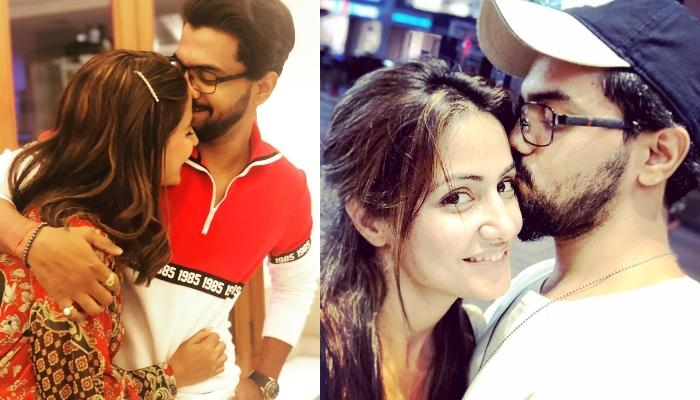 Hina Khan Twins In Ponytail With Beau, Rocky Jaiswal, Shares A Cute Picture