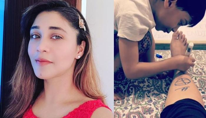 Amrapali Gupta Shares A Cute Video Of Son, Kabir Sinha Using Her Legs As His Canvas For Sketching