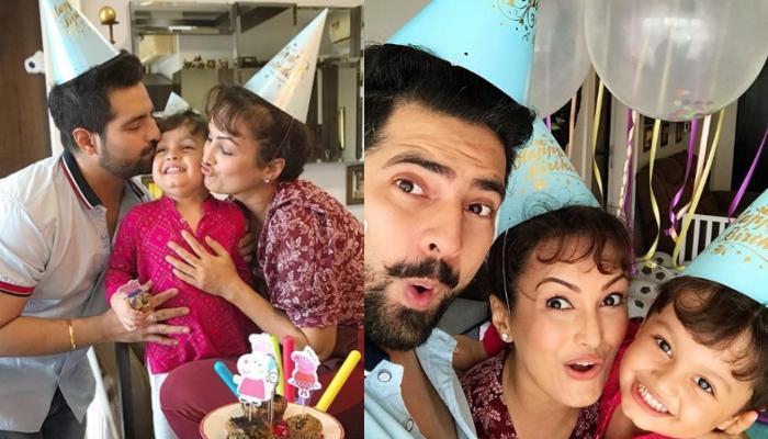 Karan Mehra And Nisha Rawal Celebrate Son, Kavish Mehra's Third Birthday With Peppa Peg-Themed Party