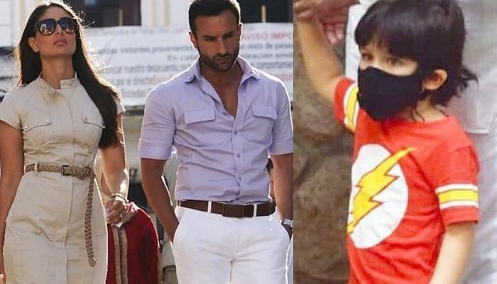 Taimur Ali Khan Is Back At Greeting Paparazzi As He Steps Out With Mom, Kareena And 'Abba', Saif
