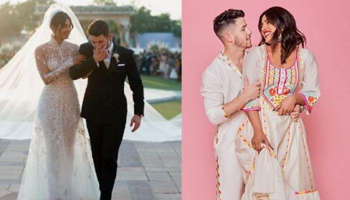 Nick Jonas Helps Wife, Priyanka Chopra Jonas With Her Dress And Then Holds Umbrella For Her [Video]