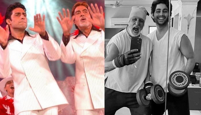 Amitabh Bachchan Shares A Rare Picture With Son, Abhishek Bachchan With Grandson, Agastya