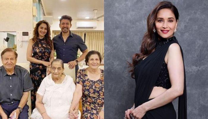 Madhuri Dixit Celebrates Her Mom's Birthday As Her Husband Plays Guitar And Her Sons Sing The Song