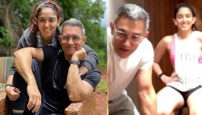 Aamir Khan Crashes His Daughter, Ira Khan's Live Workout Video And Gives A Sweet Surprise