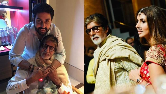 Amitabh Bachchan Shares A Photo Of Abhishek's Epic Reactions To His Portrait, Shweta Comments