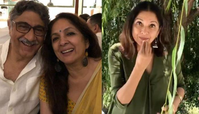 Neena Gupta Enacts How She Talks To Hubby, Vivek Mehra In Sign Language As He's Always Busy On Phone