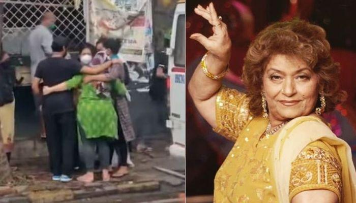 Saroj Khan's Daughter Breaks Down Into Tears Outside Malad Cemetery After Mother's Death [Video]