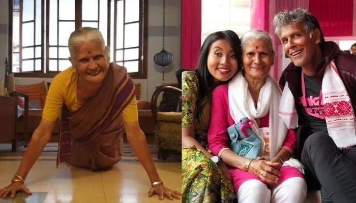 Milind Soman's 81-Year-Old Mother, Usha Soman Celebrated Her Birthday Doing 15 Push-Ups [VIDEO]