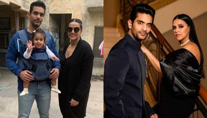 Angad Bedi Encroaches Daughter, Mehr's Bed, Wife, Neha Dhupia Takes A Dig At Their Married Life
