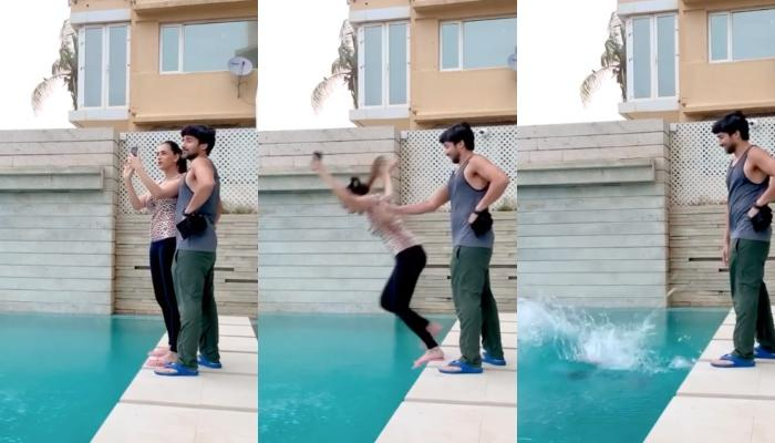 Gautam Gupta Pranks His Wife, Smriti Khanna And Pushes Her In The Pool, She Demands A New Phone