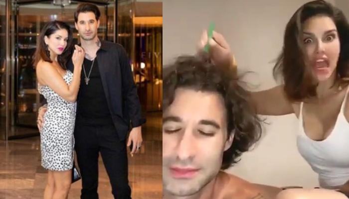 Sunny Leone Gives A Head Massage To Hubby, Daniel Weber, His Reaction Is Every Husband Ever