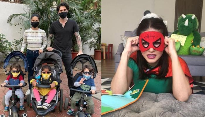 Sunny Leone Reveals How She Had Mask-Trained Her Little Ones, Nisha, Asher And Noah With A Game