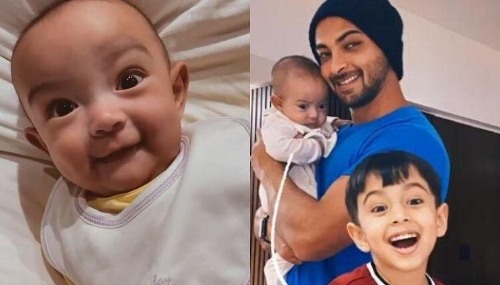 Aayush Sharma Shares A Precious Video Of Daughter, Ayat Smiling At Him While Rolling Over The Bed