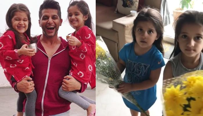 Karanvir Bohra Gives Flowers To His Daughters, Bella And Vienna, Their Reaction Will Melt Your Heart