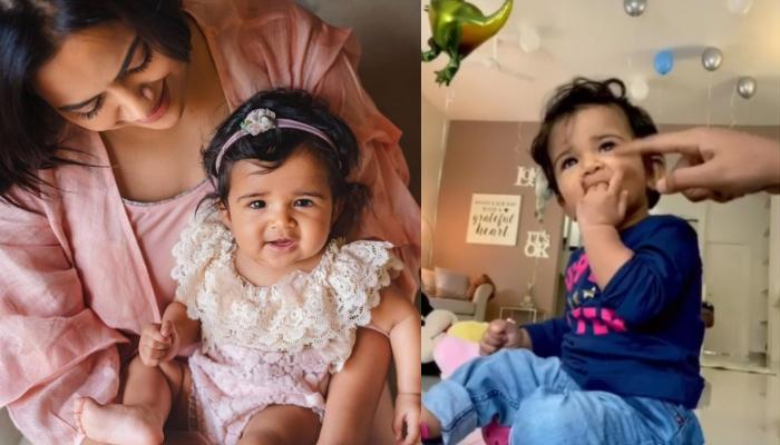 Sameera Reddy Shares A Video Of How The Doting Mommy Doesn't Let Her 'Naughty Nyra' Suck Her Fingers