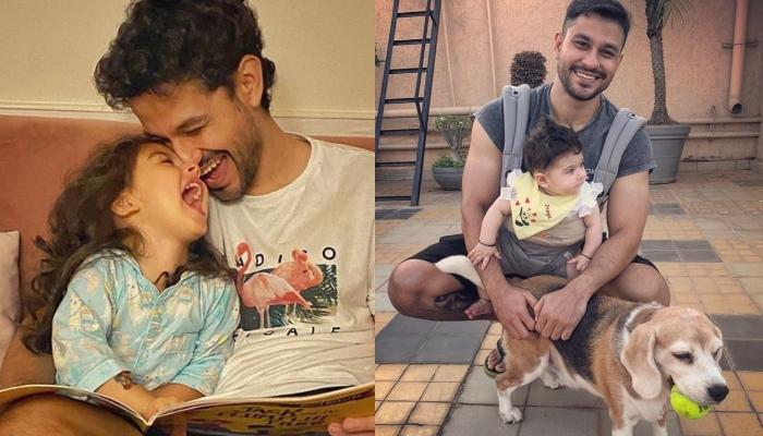 Inaaya Naumi Kemmu Goes Out For A Walk With Her Daddy, Kunal Kemmu And Their Pooch