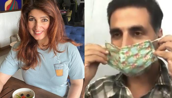 Twinkle Khanna Is Not Happy With Her Hubby, Akshay Kumar, Asks Him To Not Rob Her Pretty Floral Mask