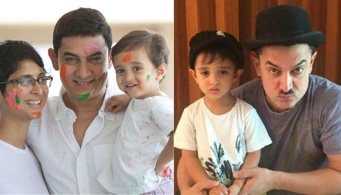 Aamir Khan's Son, Azad Rao Khan Looks Exactly Like Him In Every Expression, Proves A Photo Collage