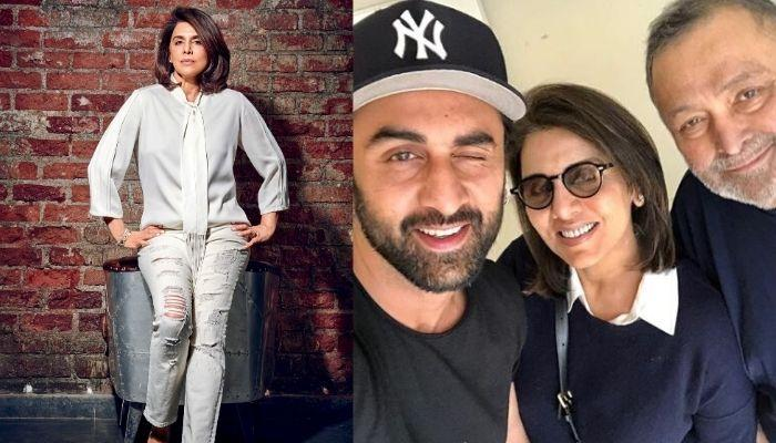 Neetu Kapoor's Mobile Phone Cover Has A 'Kapoor Family' Sticker Over It, Check Out Pictures Inside