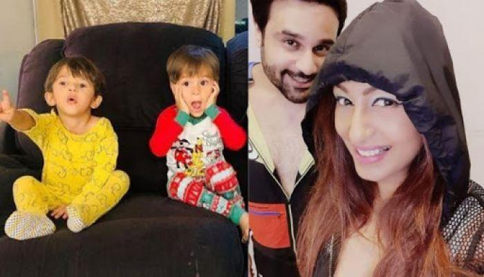 Krushna Abhishek And Kashmera Shah's Twins Wish Their Parents On Their 8th Marriage Anniversary