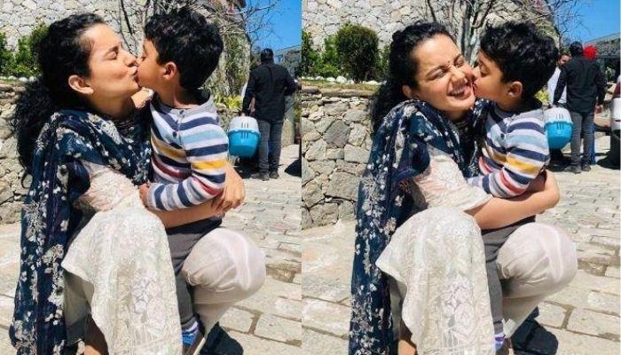 Kangana Ranaut Enjoys 'Maasi-Bhanja' Time With Nephew, Prithvi, Their Laughter Is Infectious [Video]