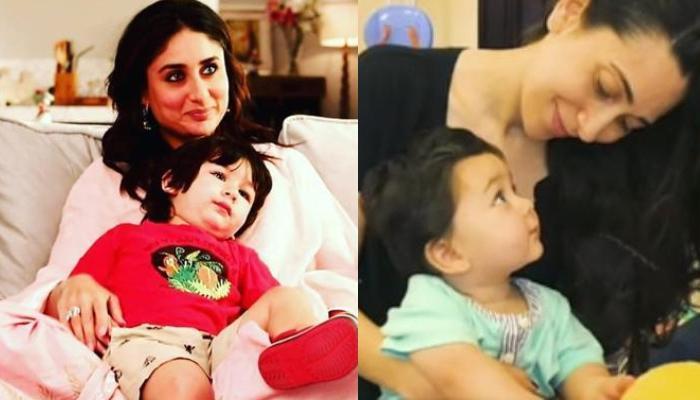 Kareena Kapoor Khan's Tiny Tot, Taimur Ali Khan Looks Cute As He Visits His 'Massi' Karisma Kapoor