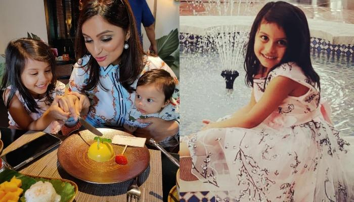 Dimpy Ganguly's 4-Year-Old Daughter, Reanna Makes A Handmade Card For Her Birthday