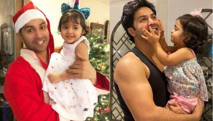 'Chachu' Varun Dhawan Holds His Niece, Niara In A Basket For His Workout, Her Expressions Are Cutest