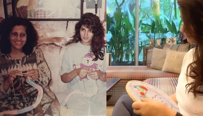 Twinkle Khanna Recalls Her Nani's Advice From Childhood Days As She Embroiders Frida Kahlo Portrait