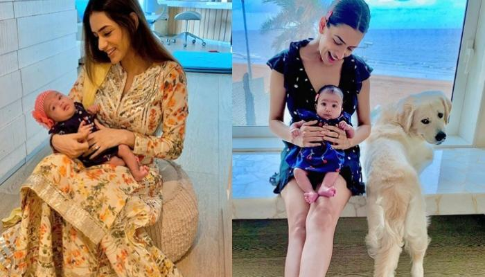 Smriti Khanna Shares A Glimpse Of Her Pooch, Lucas Keeping A Check On Her Little Munchkin, Anayka