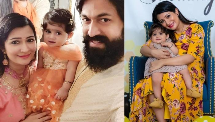 K.G.F Star, Yash's Wife, Radhika Pandit Shows Us How She Keeps Her Little Girl, Ayra Entertained