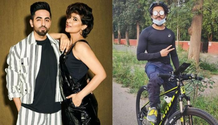 Ayushmann Khurrana Is All Hearts For His Cycling Date With Wife Tahira Kashyap As They Go For A Ride