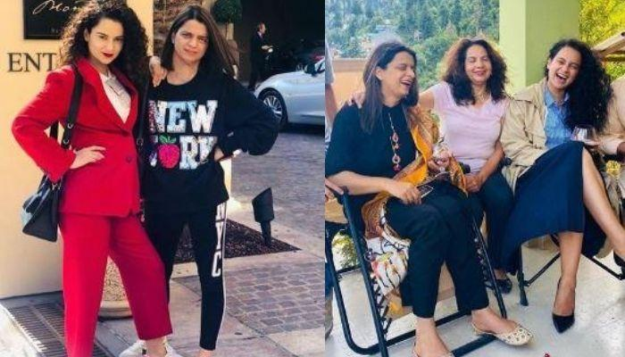 Kangana Ranaut Enjoys Time At Her Bua's House With Sister, Rangoli Chandel, Poses In Phupha Ji's Cap