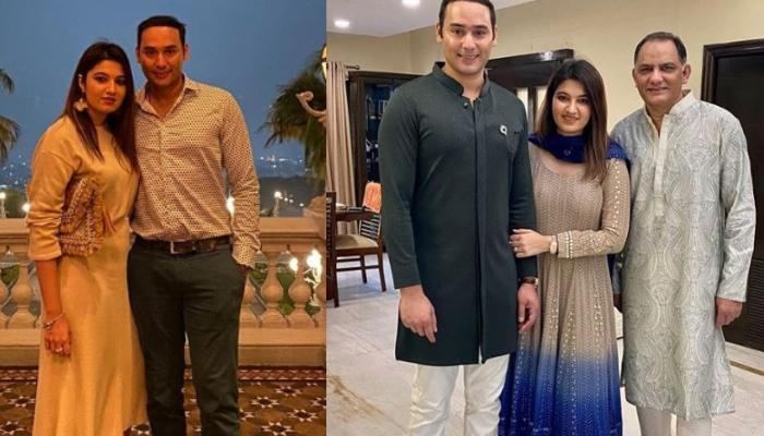 Anam Mirza Celebrates Eid With Hubby, Asad And Father-In-Law, Mohammad Azharuddin, Twins With Latter
