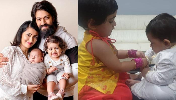 K.G.F Star Yash And Radhika Pandit's Kids Look Adorable As They Celebrate Their First Raksha Bandhan