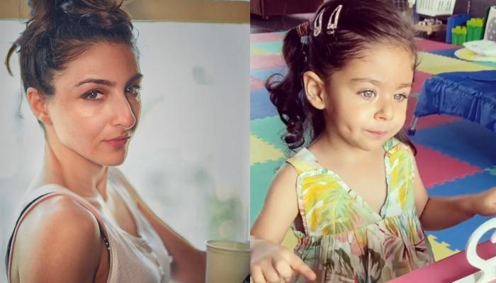 Inaaya Naumi Kemmu Is Back To Her DIY Artwork As Mommy, Soha Ali Khan Turns Paparazzi  For Her