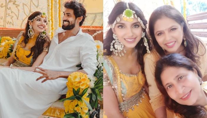 Rana Daggubati's To-Be Wife, Miheeka Bajaj Wore Her Mother's Bridal Lehenga For Her 'Bhaat' Ceremony