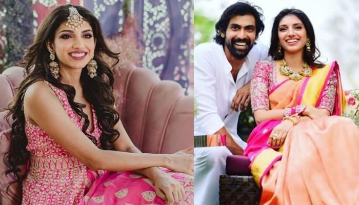 Rana Daggubati's Wedding: Bride Miheeka Bajaj Looks Stunning In A Cream And Gold Zardosi Lehenga