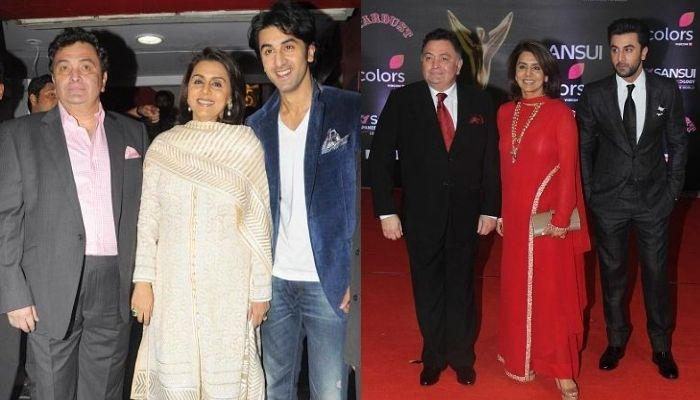 Ranbir And Rishi Kapoor Stare Blankly At Neetu Kapoor In This Rare Unseen Picture From A Hawan