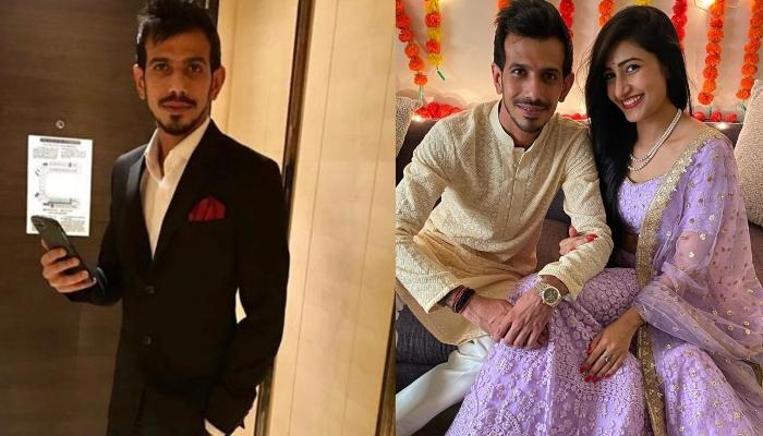 Yuzvendra Chahal Twins In Black With Fiancee, Dhanashree Verma, After Getting 'Rokafied'