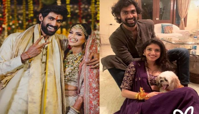 Rana Daggubati's Wife, Miheeka Bajaj Radiates New Bride Glow As She Performs 'Satyanarayan Puja'