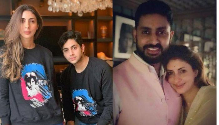 Shweta Bachchan Nanda Gives A Savage Reply To Son, Agastya As He Welcomes Mamu, Abhishek Home