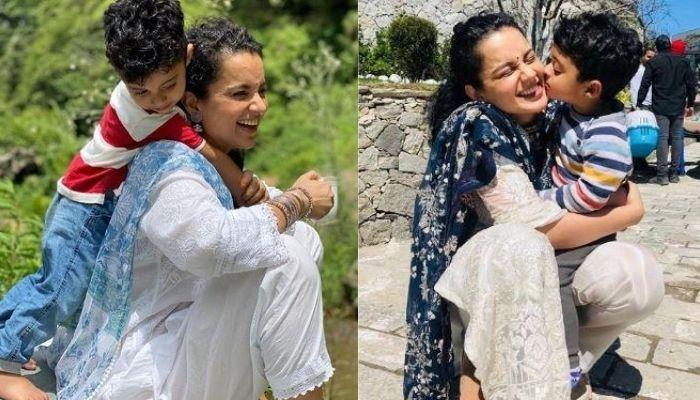 Kangana Ranaut And Her Nephew, Prithvi Have A Little Picnic On Their Way To Her Parent's House