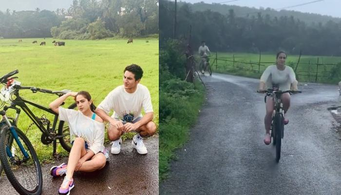 Sara Ali Khan And Ibrahim Ali Khan Cycling In The Rains During Monsoon Is Every Brother-Sister Ever