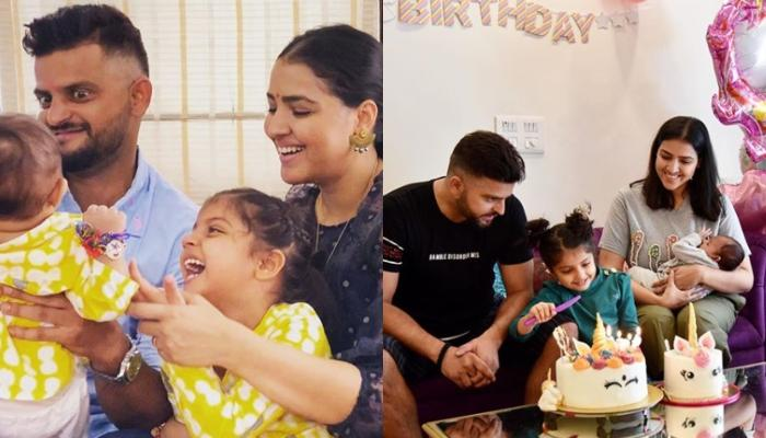 Suresh Raina Gets His Wife, Priyanka And His Kids, Gracia And Rio's Names Tattooed On His Hands